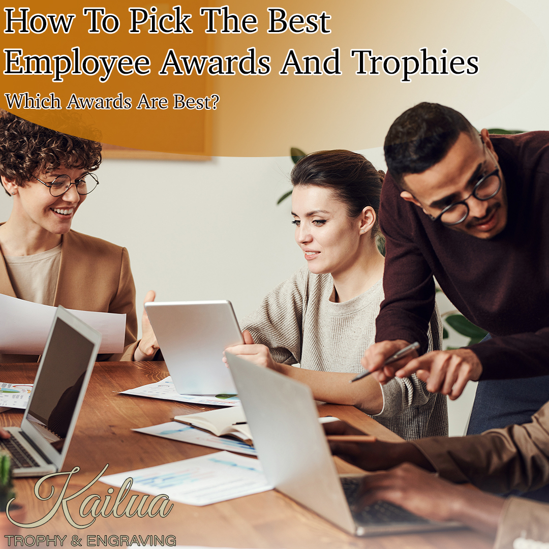 Recognition trophies and award ideas for outstanding service from employees and staff